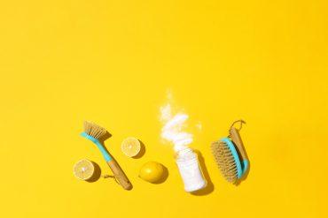 Zutaten für selbstgemachte Reinigungsmittel